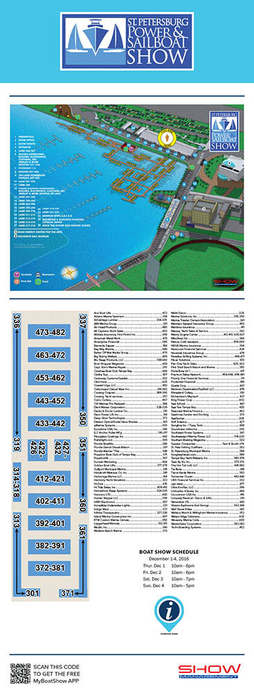 St Pete Boat Show Map
