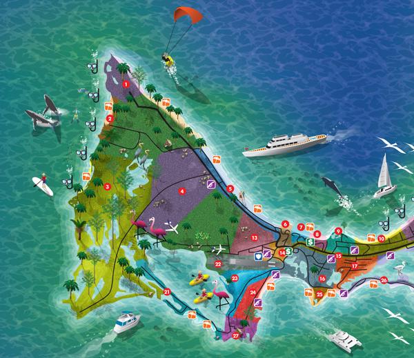 Island Tourism Map