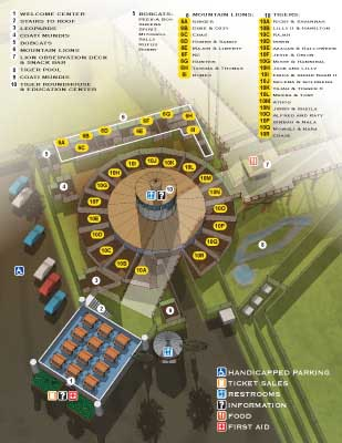 Wild Animal Sanctuary Roundhouse Map