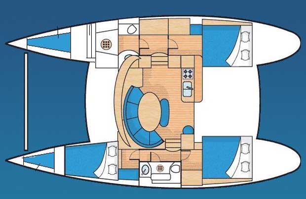 Lagoon 380 layout