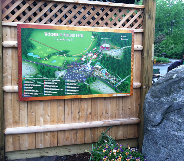 Tourist Attraction Illustrated Map sign