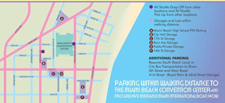 Miami Beach Convention Center Parking Map