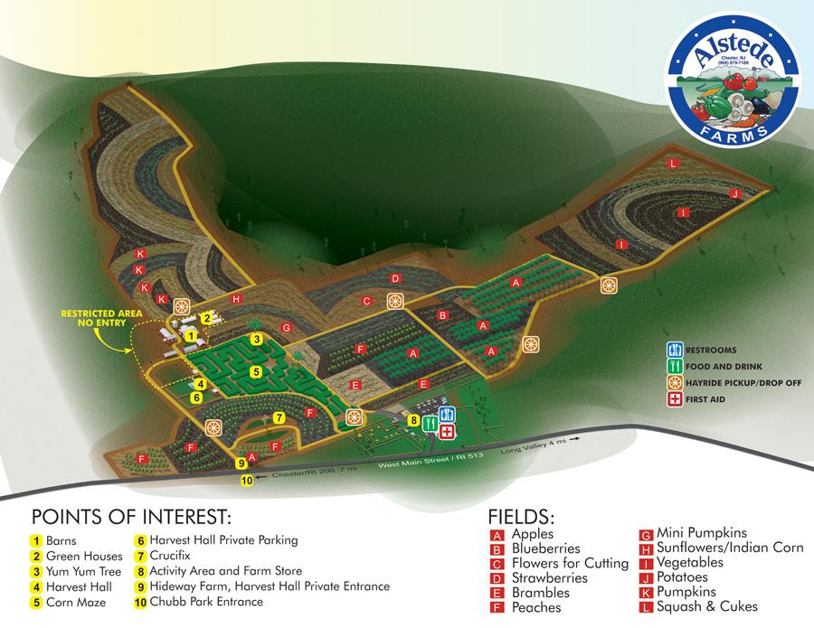 Alstede Farm Map