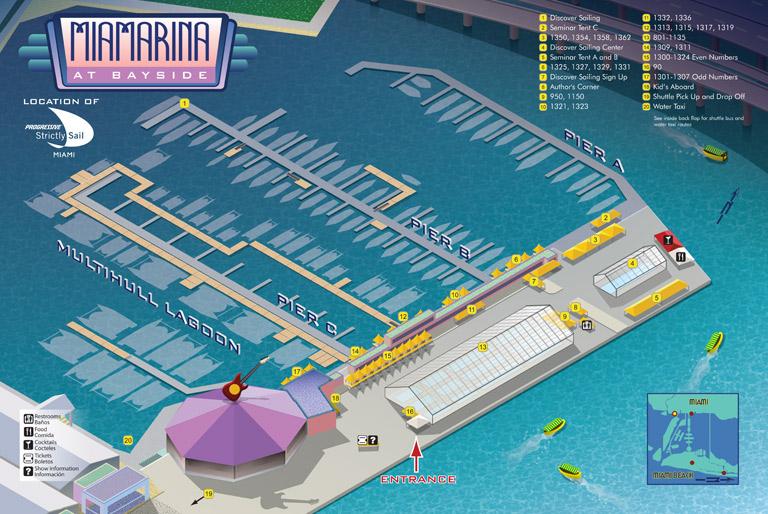 Miami Boat Show Bayside Map