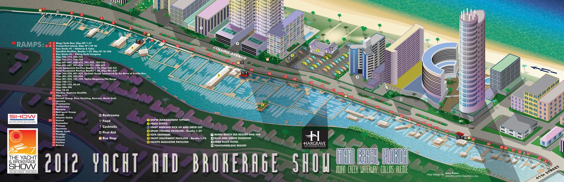 Miami Boat Show Map