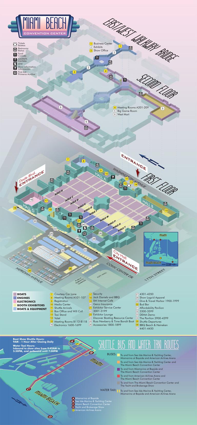 Miami Boat Show Miami Convention Center Map