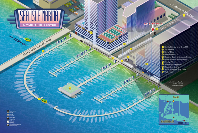 Miami Boat Show Sea Isle Marina Map