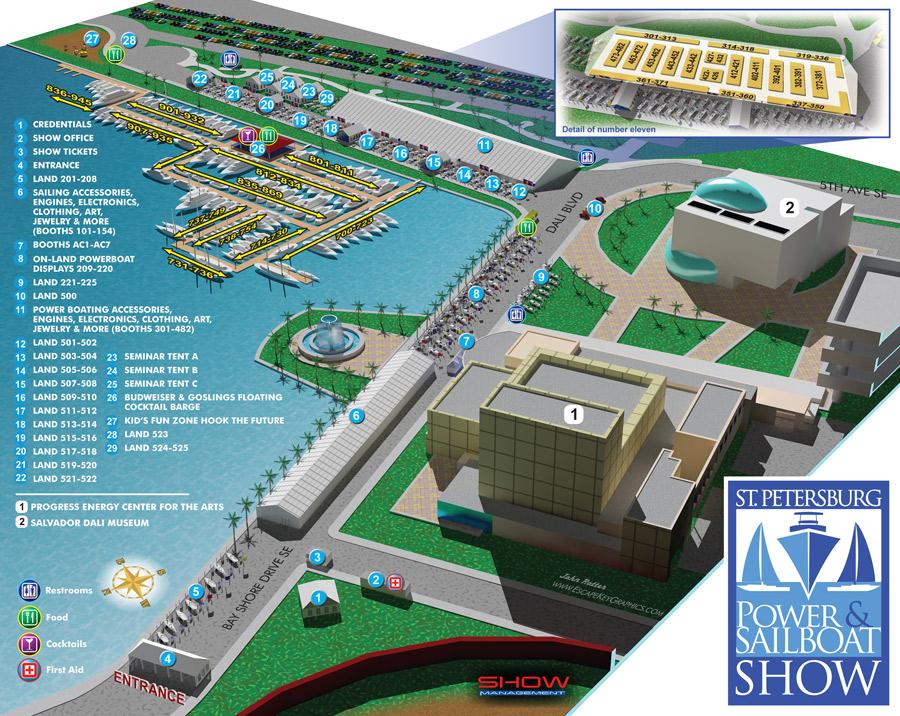 St. Petersburg Power & Sailboat Show map