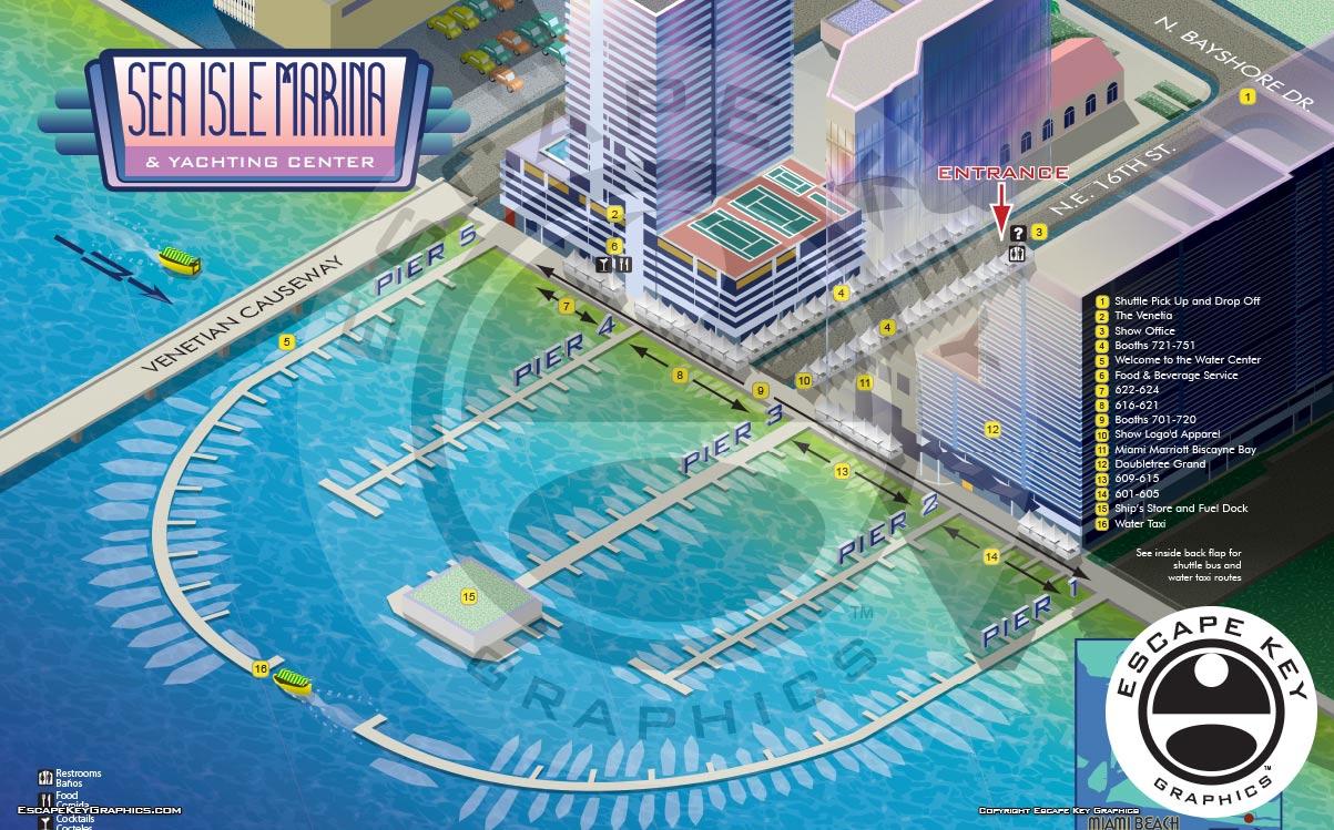Miami Boat Show Maps