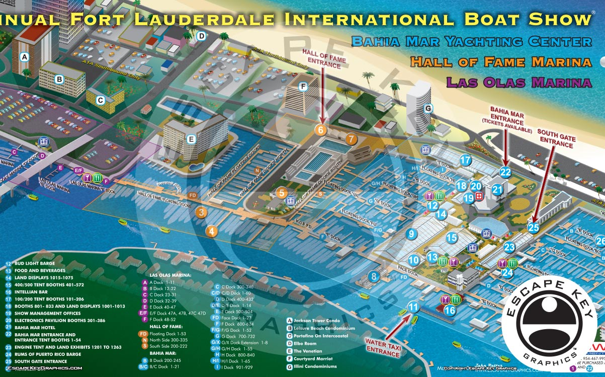 International Boat Show Illustrated Map
