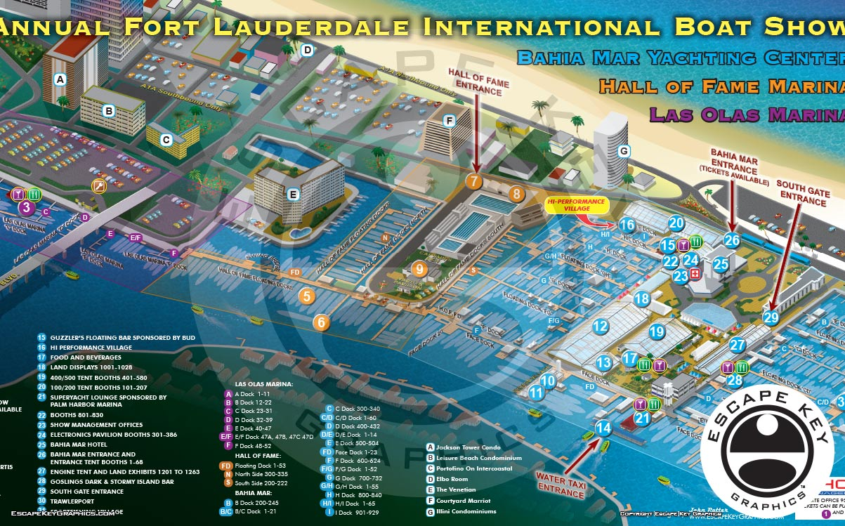 Illustrated Boat Show Maps