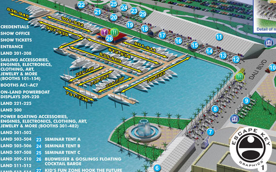 Boat Show Aerial Map