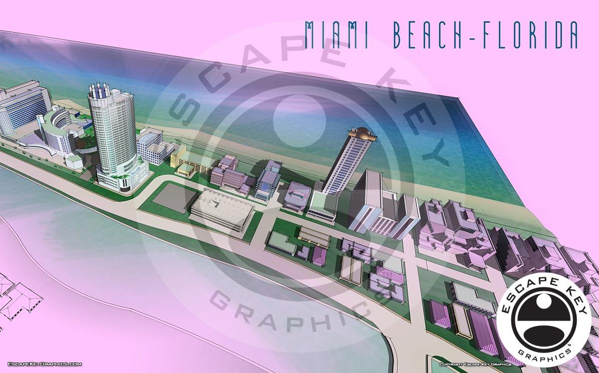 Brokerage Show in Miami Beach Illustrated Maps