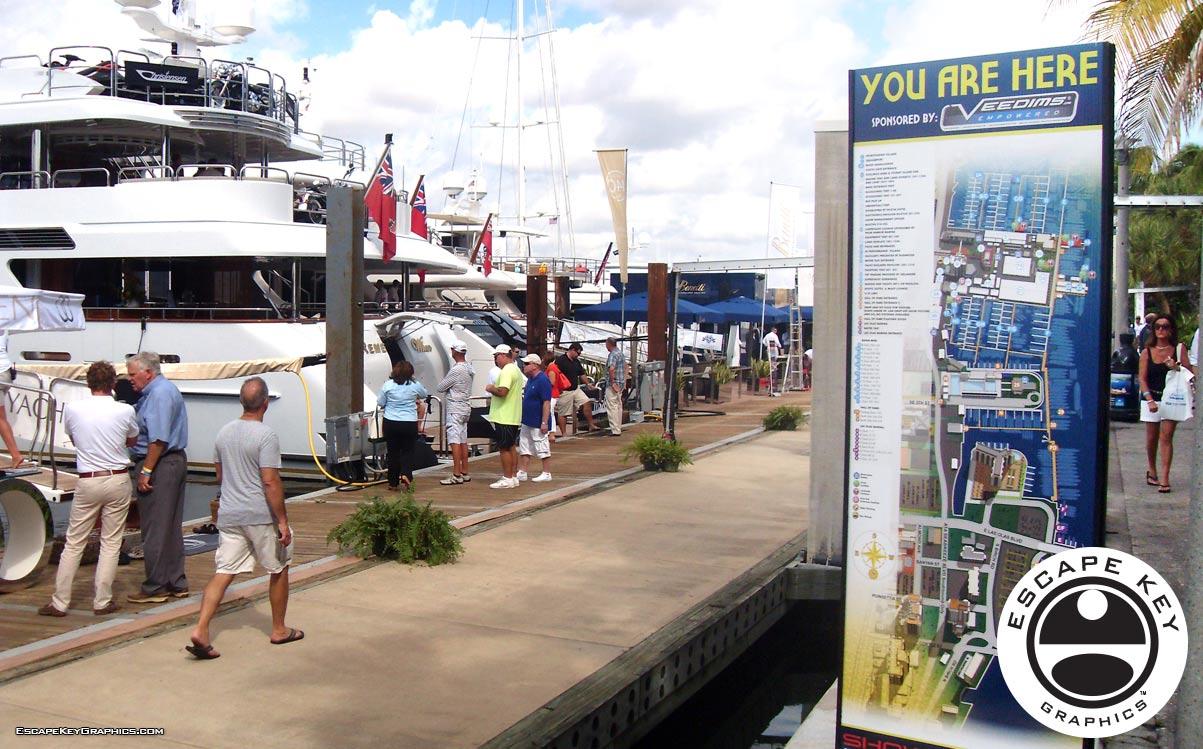 International Boat Show Illustration Signs
