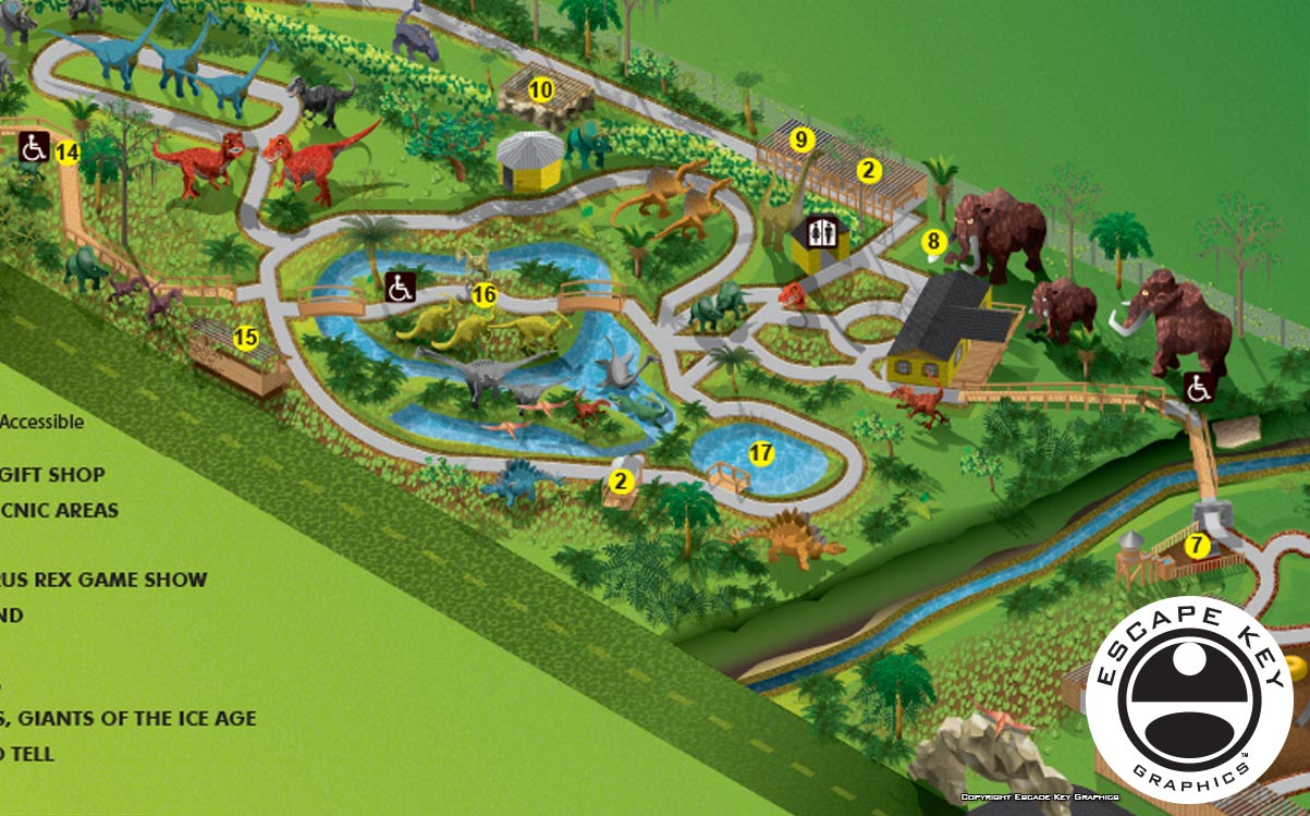 Theme Park Illustrated Map