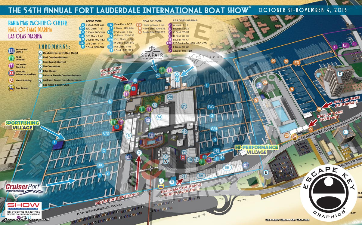 Boat Show Illustrated Guest Map