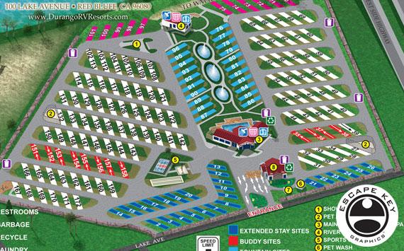 RV Resort Map