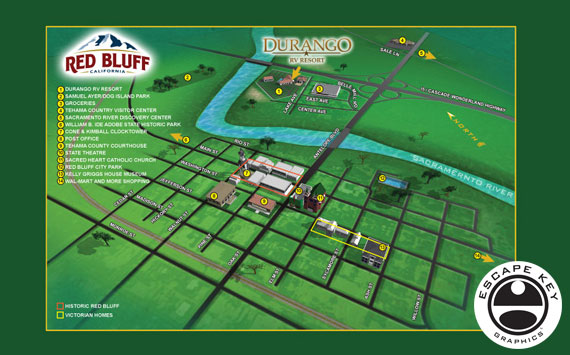 Illustrated Town Map