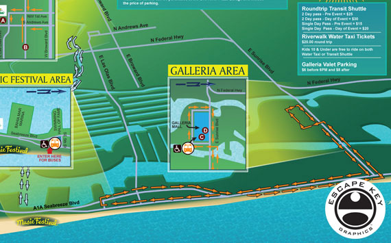 Music Festival Parking Map Design