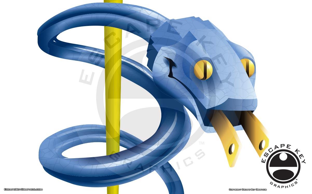 Electric Snake Illustration