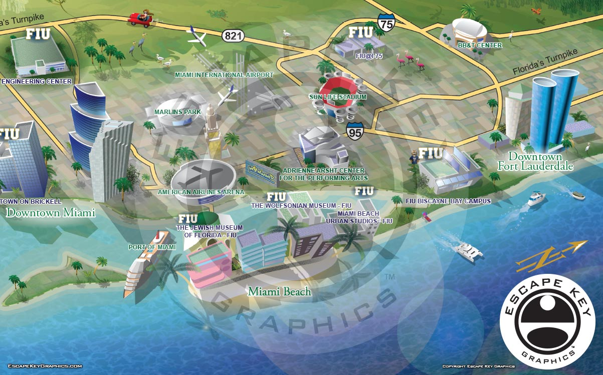 South Florida Picture Map