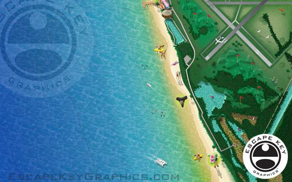 Illustrated Beach Map