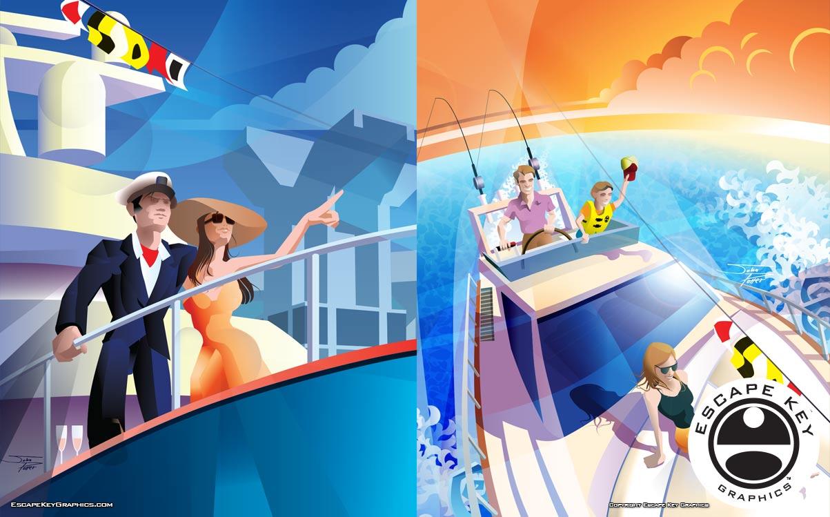 Boat Show Illustrations