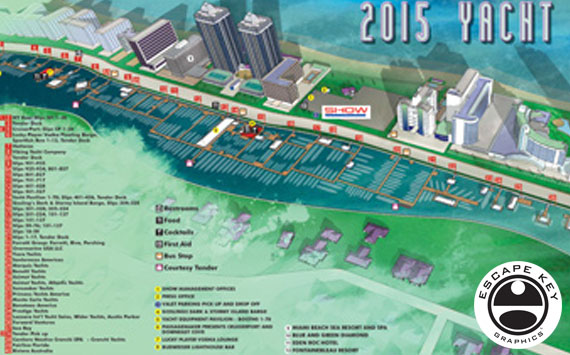 A Miami Boat Show Illustrated Map