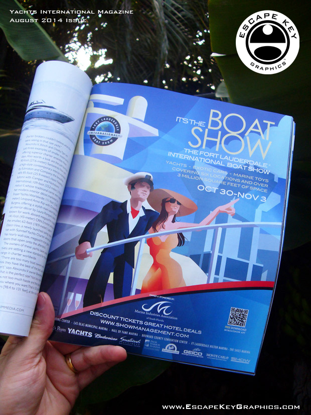 Boat Show Illustration -FLIBS