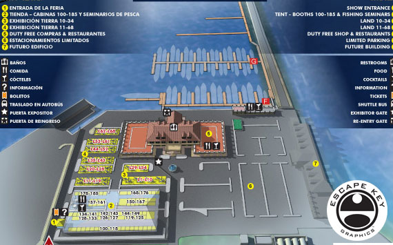 Illustrated Map for the Panama International Boat Show