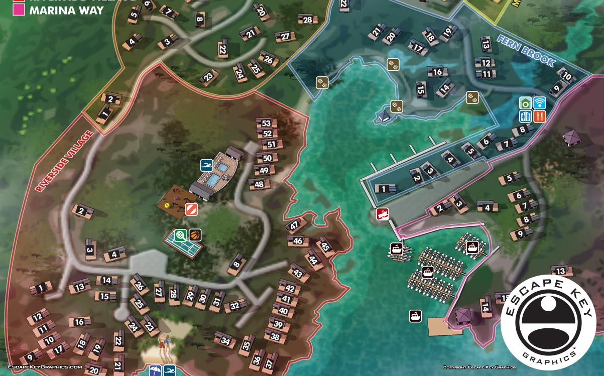 Resort Maps Showing Cottage Locations