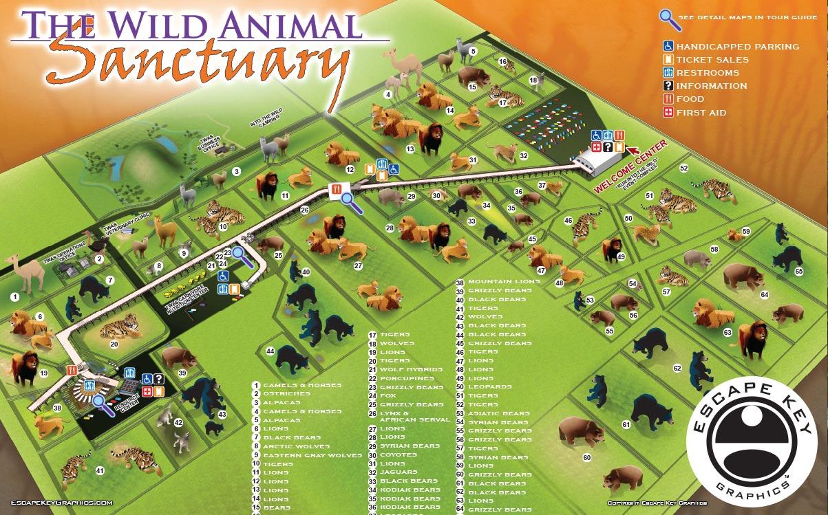 Animal Sanctuary Illustrated Map