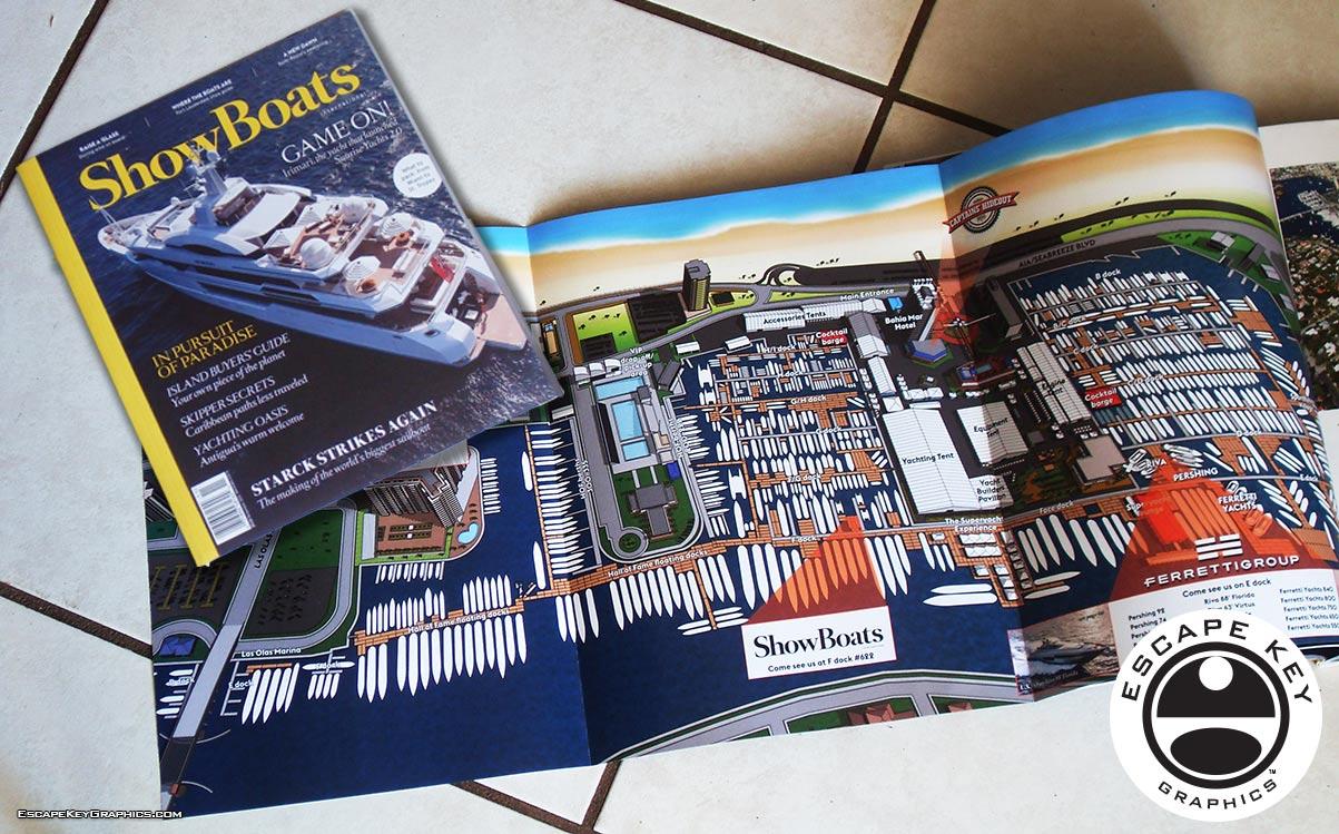 ShowBoats International Magazine Illustrated Map
