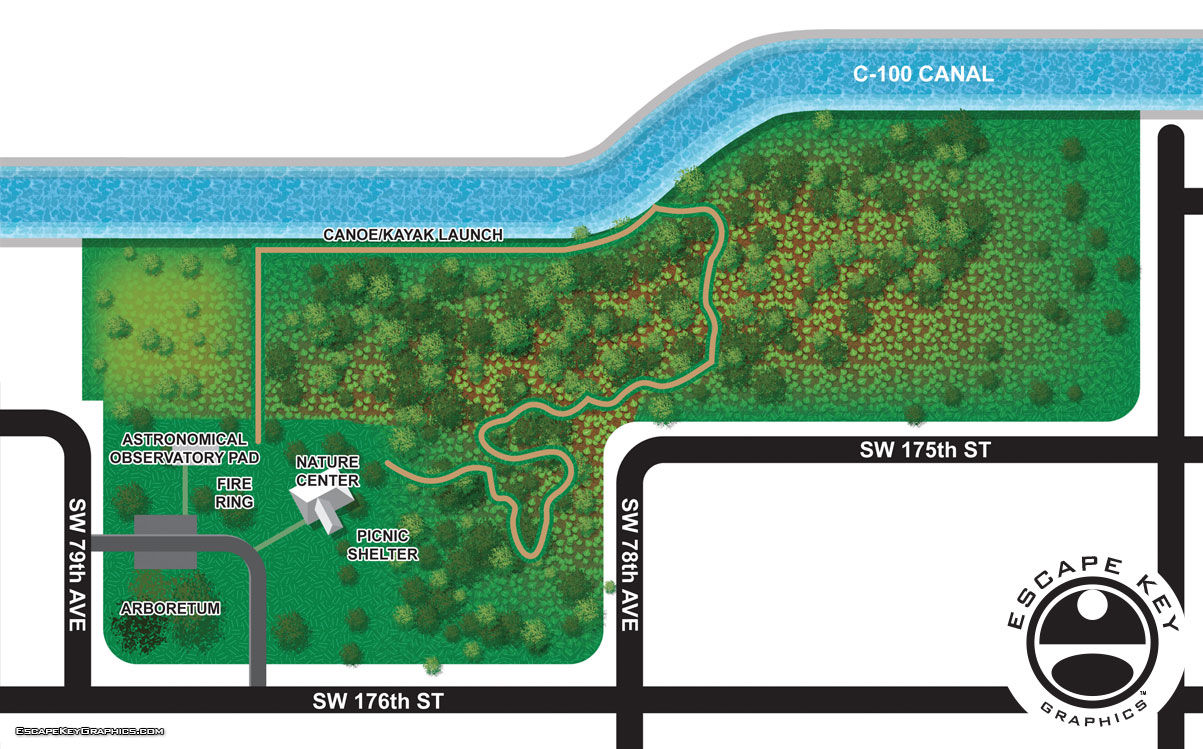Hiking Trail maps for Miami-Dade County Parks and Rec.