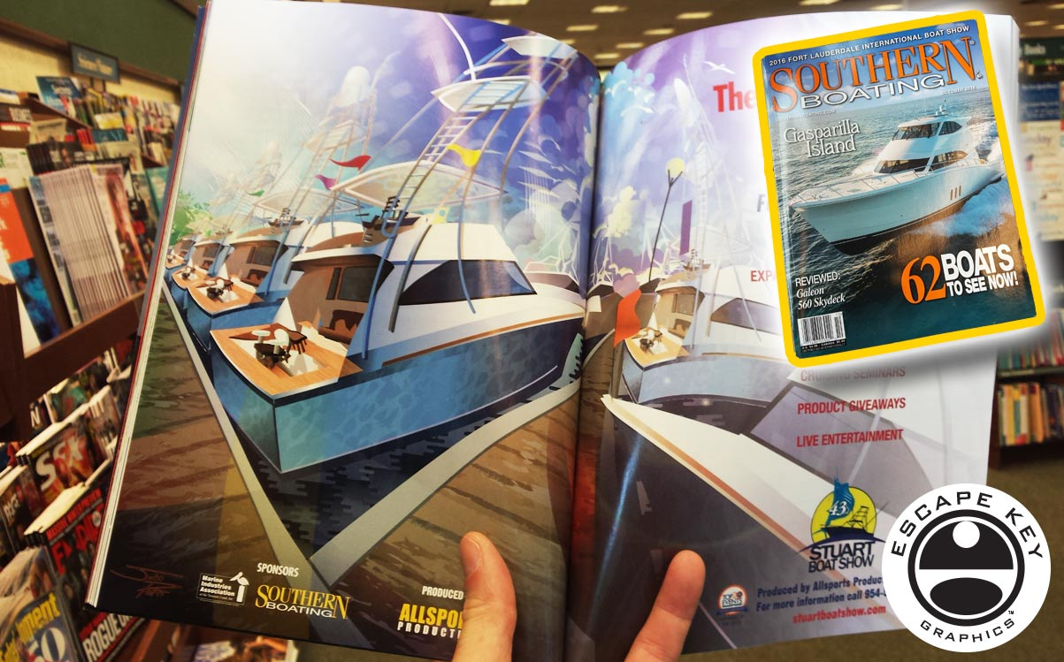 Advertising Illustration in a Magazine