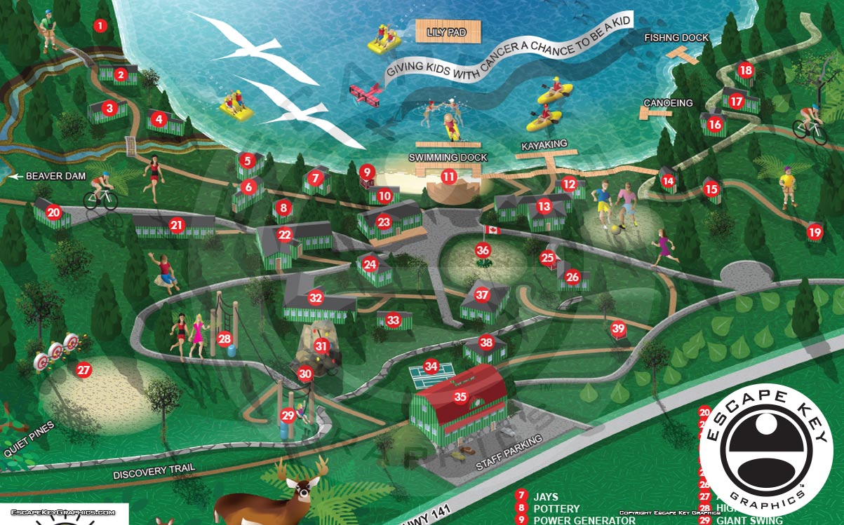 Illustrated Camp Map