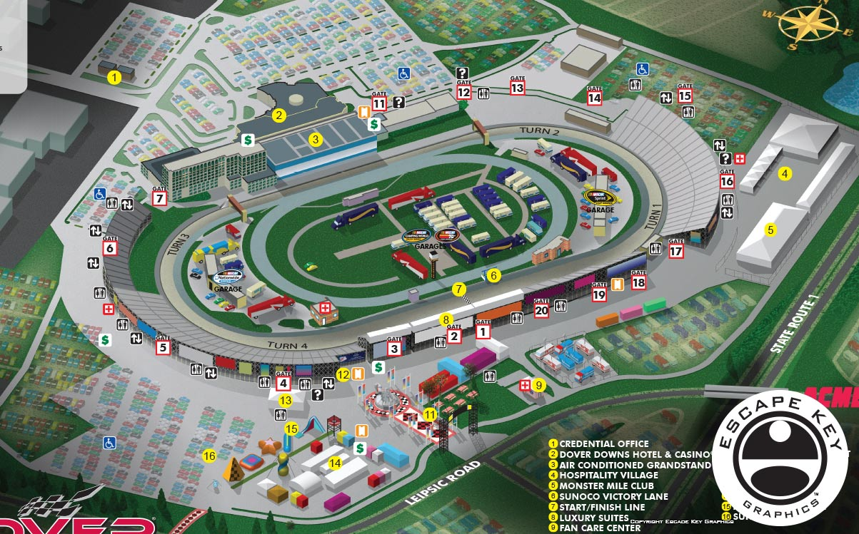 International Speedway Illustrated Map