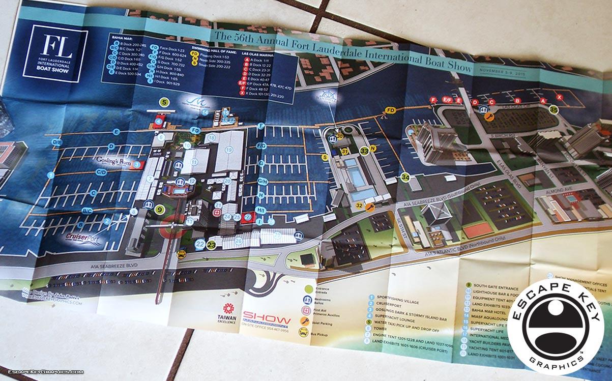 Boat Show Folding Map Designs