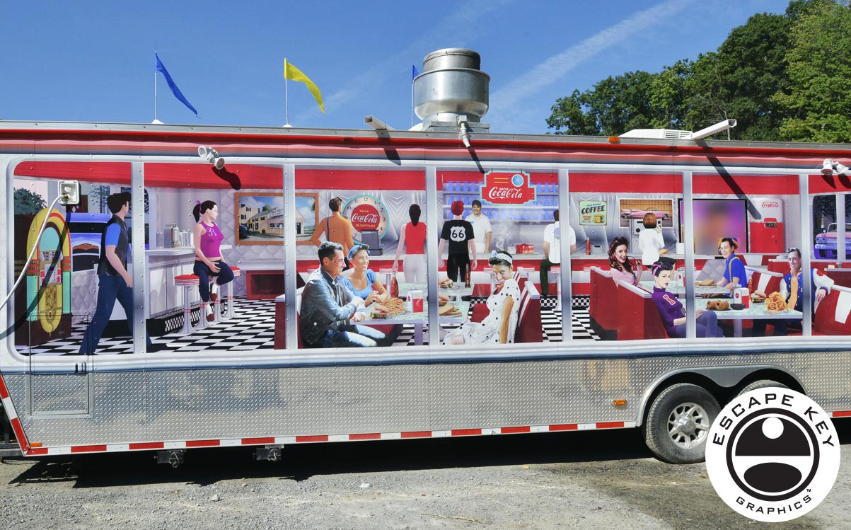 Illustration - Food Truck Custom Vinyl Wrap