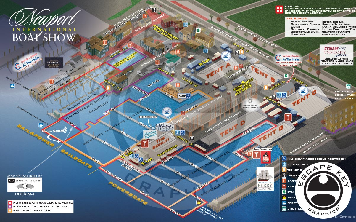 An International Boat Show Illustrated Map