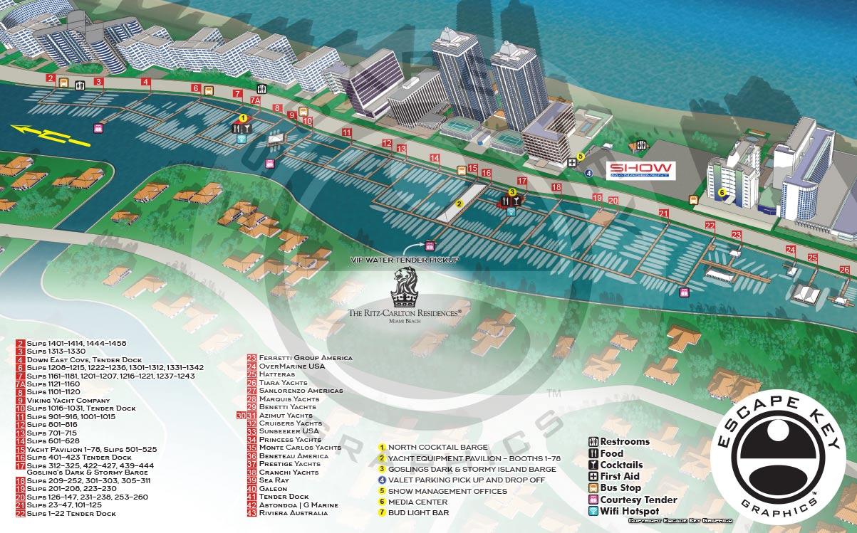 A Miami Beach Yacht Show Maps