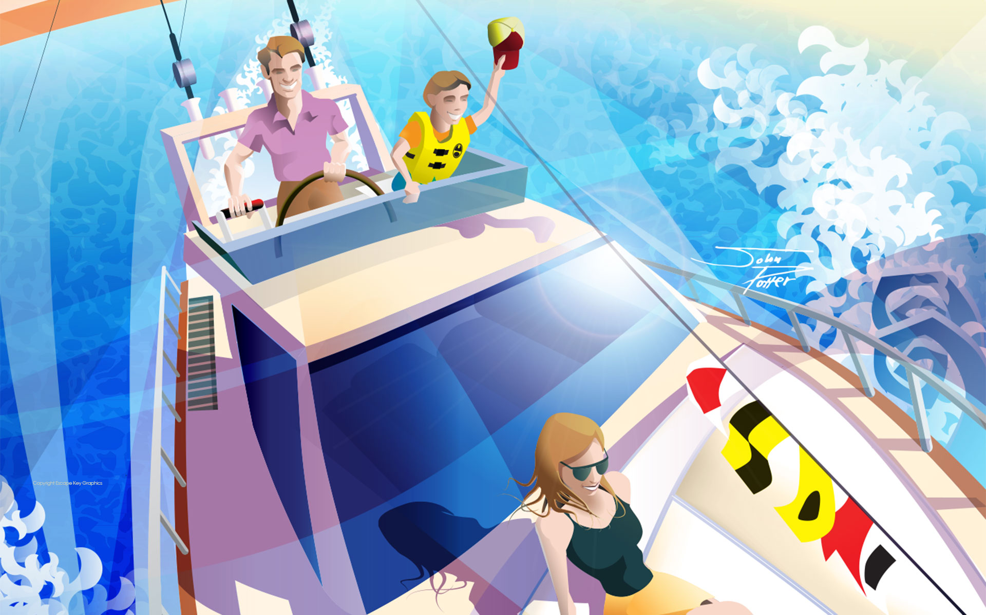 Boat Show Illustration for FLIBS 2014