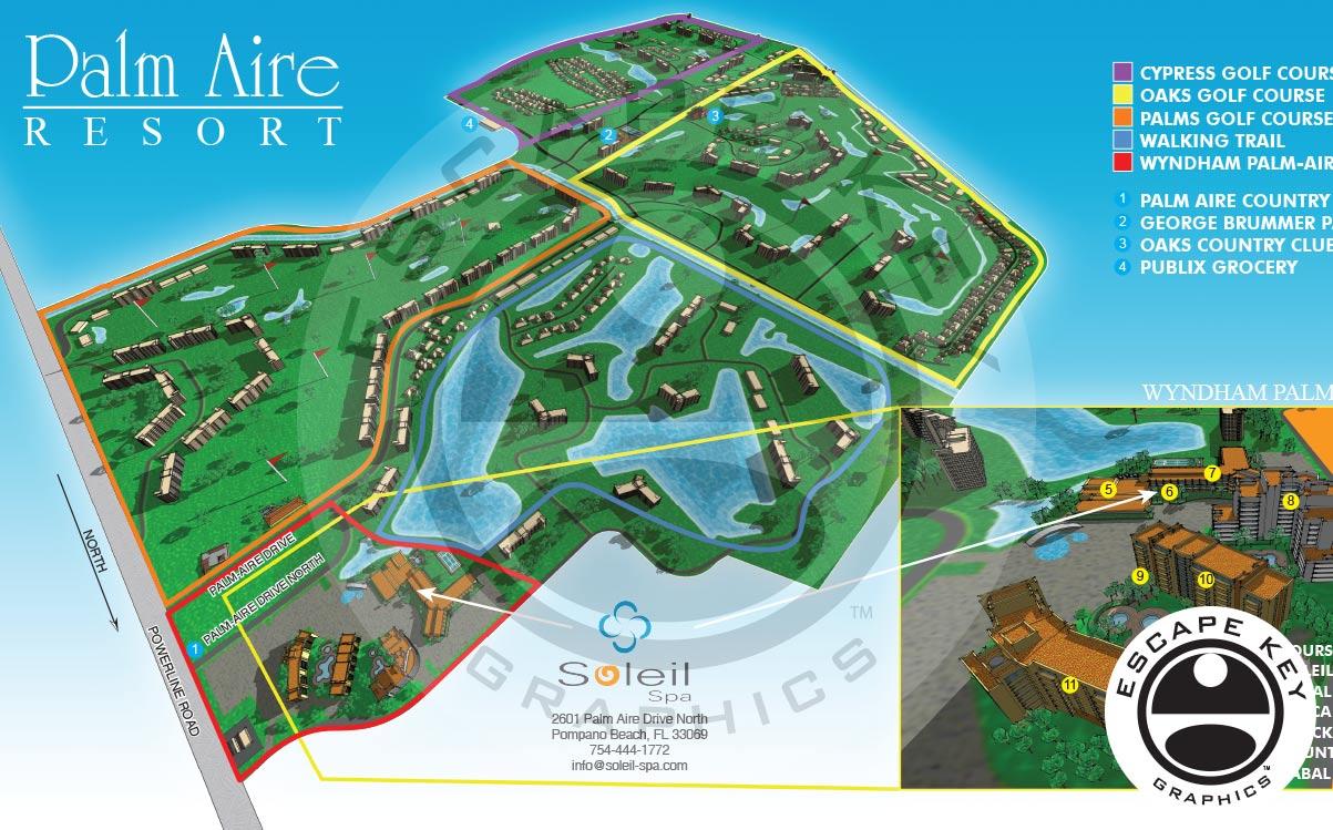 Golf Resort Illustrated Map