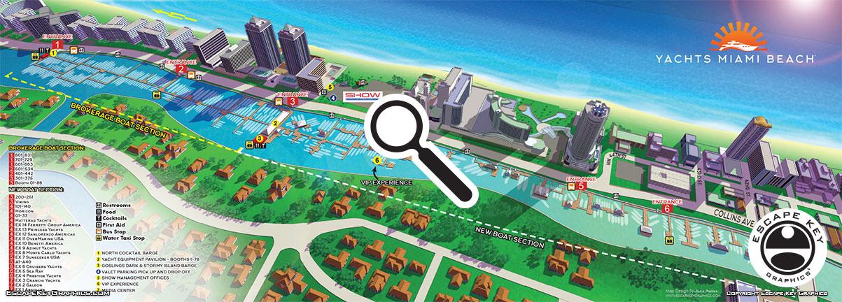 Illustrated Miami Show Map Illustrated Miami Show Map