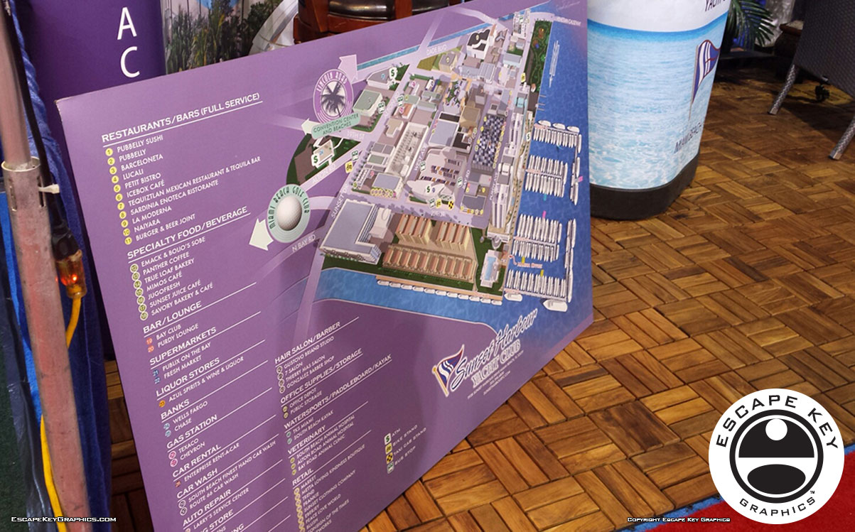 Yacht Club map as sign