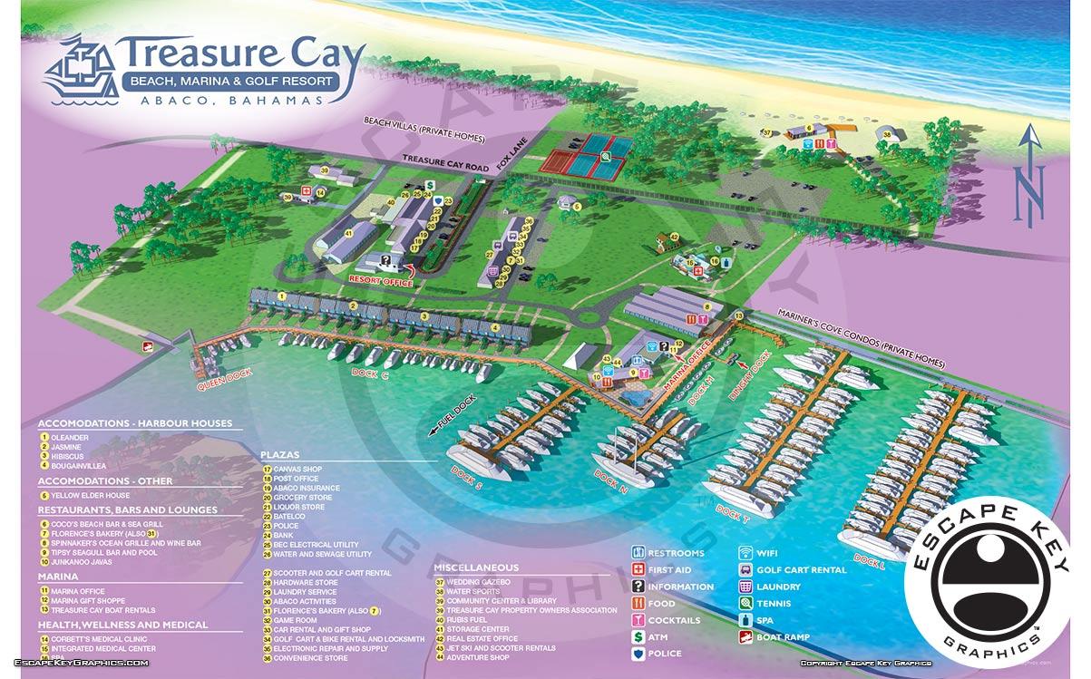 Marina and Resort Illustrated Map