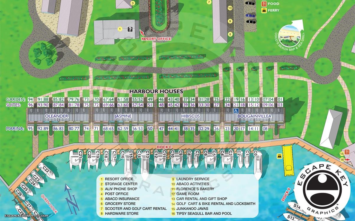 Resort Cottages Map