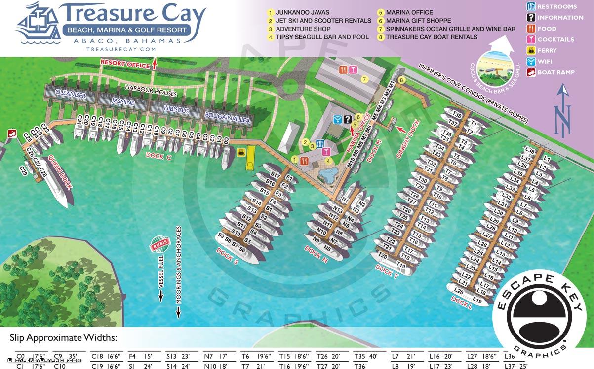 Marina Slip and Dockage Map