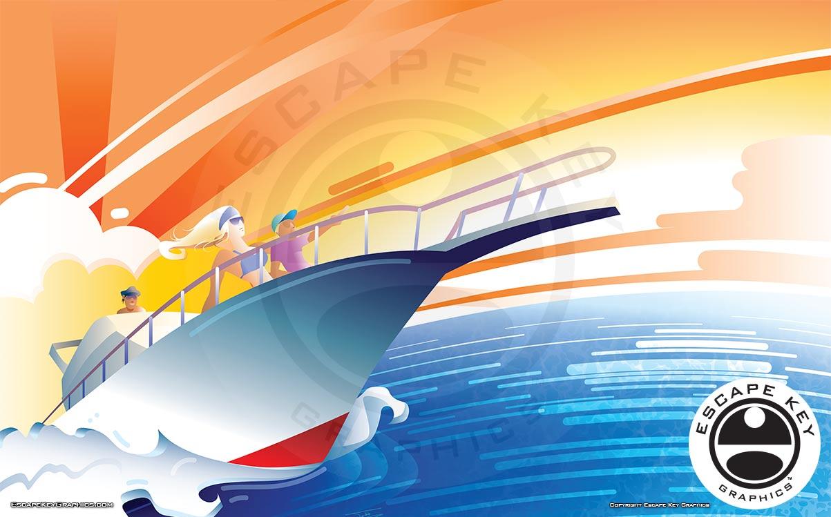 Boating Illustration for a Boat Show