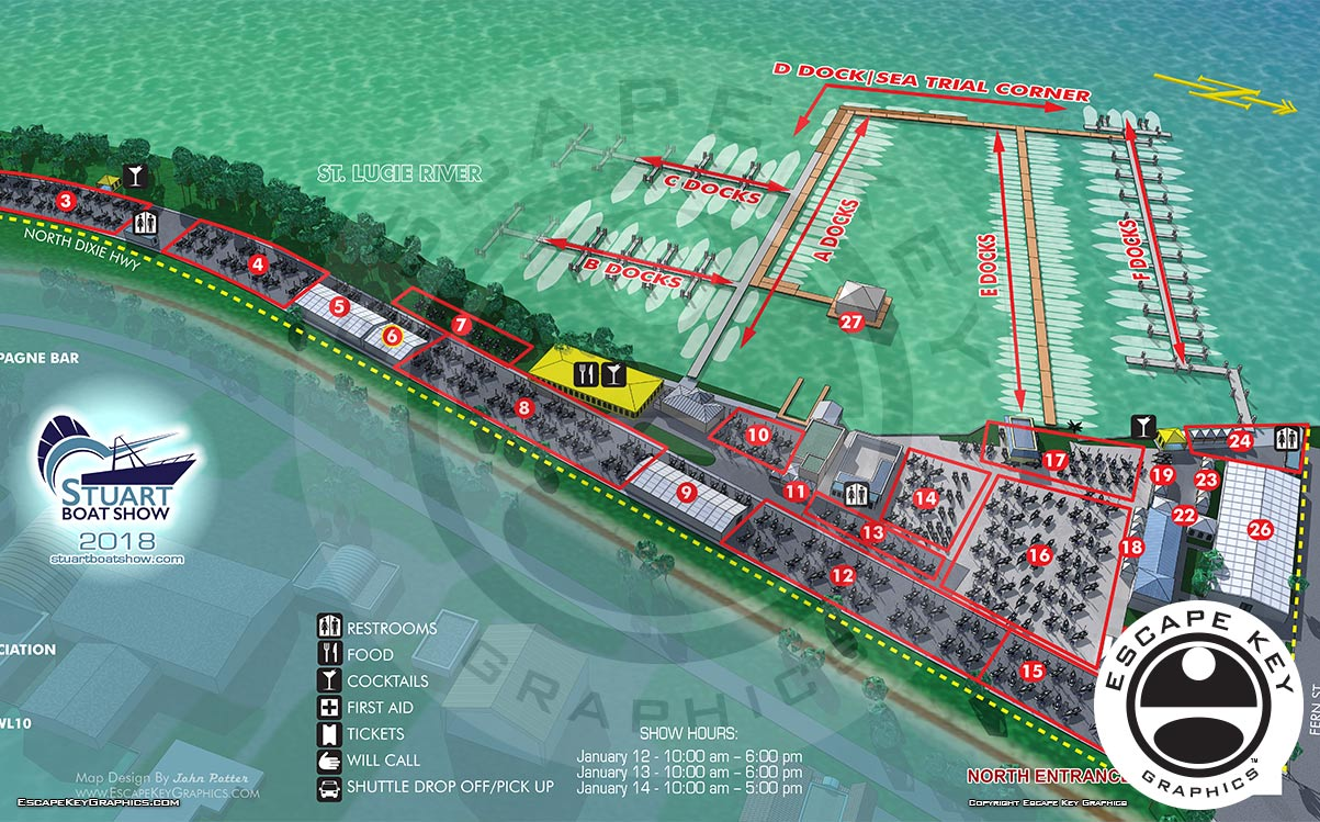 Stuart Boat Show Map Illustrated- 2018